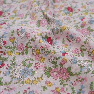 Cotton Lawn - Dainty Floral On Pink