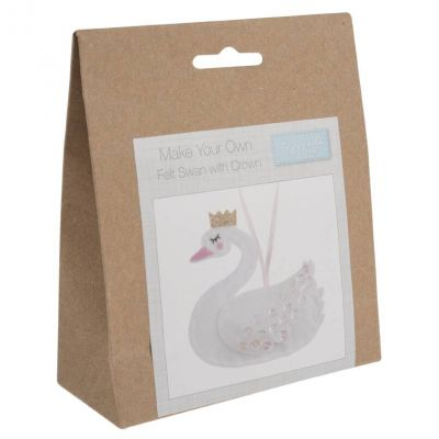 Trimits Felt Decoration Kit: Christmas: Swan with Crown