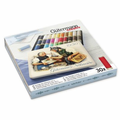 Gutermann Nostalgic Box 1930 - Sew-All Threads - 30 x100m - Assorted Shades