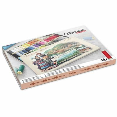 Gutermann Nostalgic Box 1895 - Sew-All Threads - 48 x100m - Assorted Shades