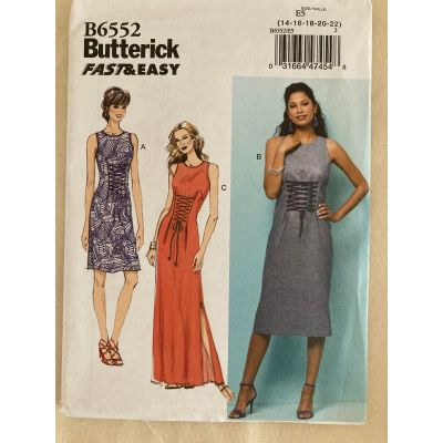 Remnant - Butterick Sewing Pattern B6552 - E5 - size 14 - 22 -  End of Line