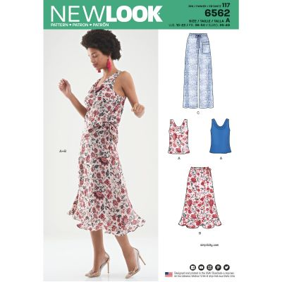 Remnant - New Look 6562 - size A - 10,12,14,16,18,20,22 - End of Line