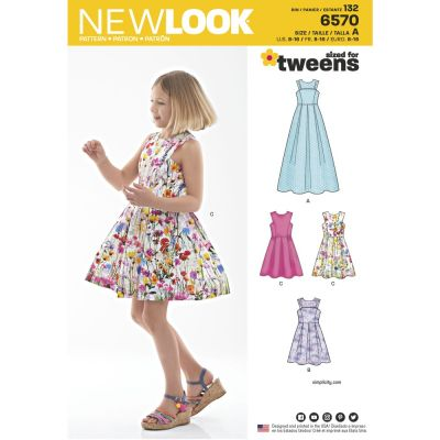 New Look Sewing Pattern 6570 - Girls Dress in Two Lengths