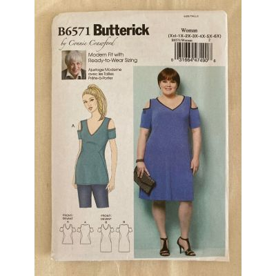 Remnant - Butterick Sewing Pattern B6571 - MISS- (Xsm-Sml-Med-Lrg-Xlg  End of Line