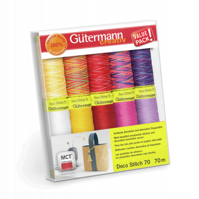 Gutermann 10 x 70m Deco Stitch 70 Thread Set