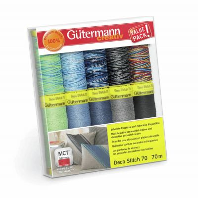 Gutermann 10 x 70m Deco Stitch 70 Thread Set 2
