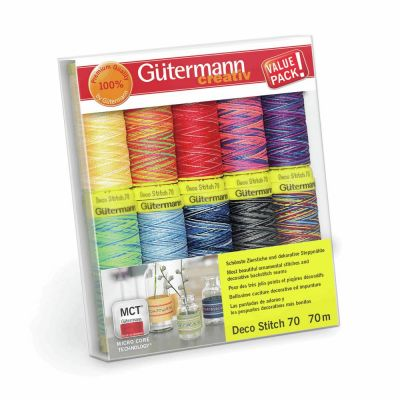Gutermann 10 x 70m Deco Stitch 70 Thread Set 3
