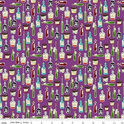 Riley Blake - Haunted House - Apothecary Purple