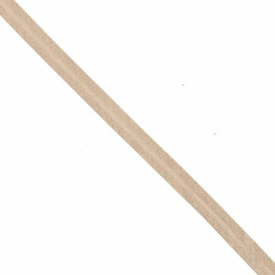 30mm Linen Bias Binding - Light Beige - Per Metre