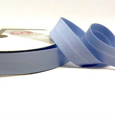 Plain Stretch Cotton Jersey Bias Binding - 18mm Wide - Sky