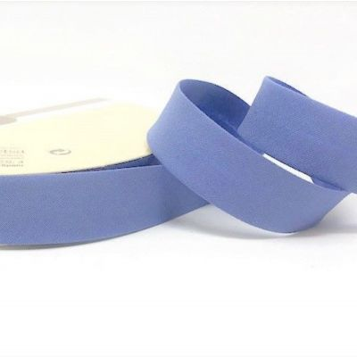 Plain Stretch Cotton Jersey Bias Binding - 18mm Wide - Cornflower