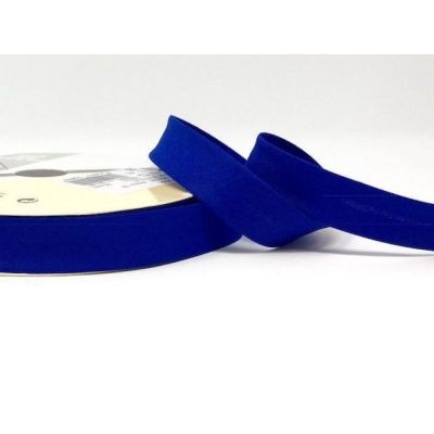 Plain Stretch Cotton Jersey Bias Binding - 18mm Wide - Royal