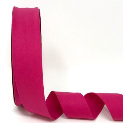 Plain Stretch Cotton Jersey Bias Binding - 30mm Wide - Fuchsia