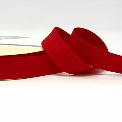 Plain Stretch Cotton Jersey Bias Binding - 18mm Wide - Red