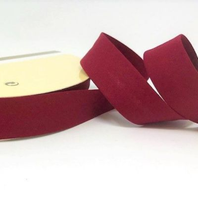 Plain Stretch Cotton Jersey Bias Binding - 18mm Wide - Wine