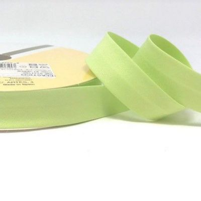 Plain Stretch Cotton Jersey Bias Binding - 18mm Wide - Pale Green