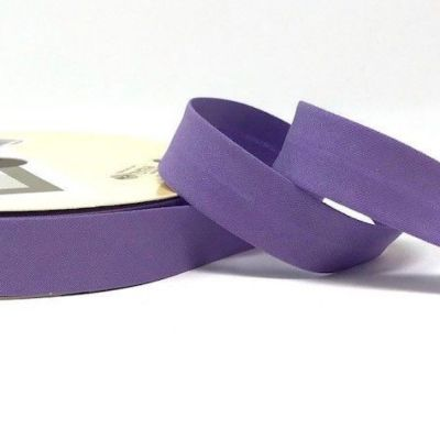 Plain Stretch Cotton Jersey Bias Binding - 18mm Wide - Lilac
