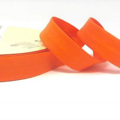 Plain Stretch Cotton Jersey Bias Binding - 18mm Wide - Orange