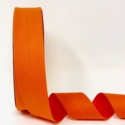 Plain Stretch Cotton Jersey Bias Binding - 30mm Wide - Orange