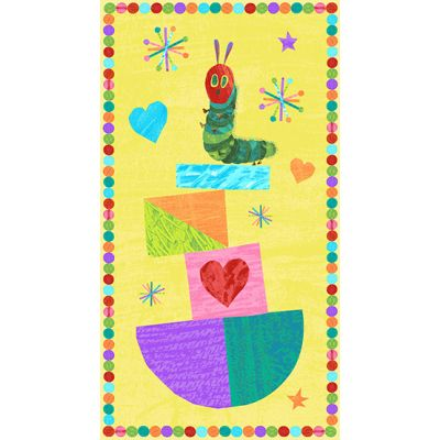 Andover - The Very Hungry Caterpillar Bright - 60cm Panel Yellow