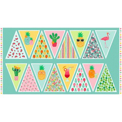 Makower - Fruity Friends - Bunting 60cm Panel