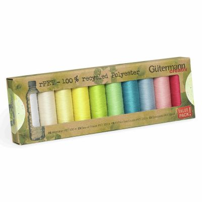 Gutermann 10 x 100m Recycled (rPET) Assorted Thread Set-1