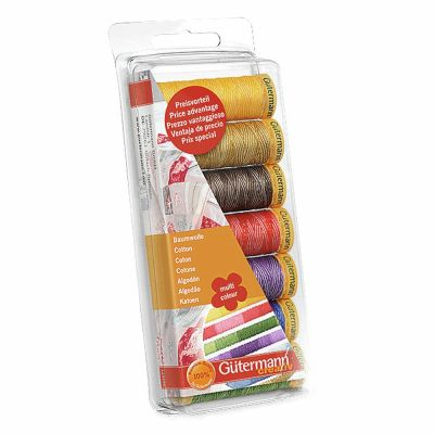 Gutermann  7 x 100m Cotton C No.50 Multi-Colour Assorted Thread Set