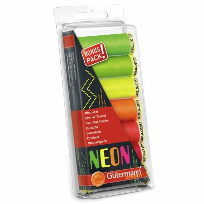 Gutermann 7 x 100m Sew-All Neon Thread Set