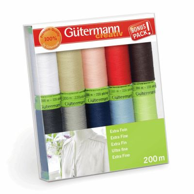 Gutermann 10 x 200m Extra Fine 200 Assorted Thread Set