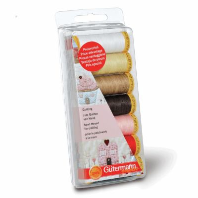 Gutermann 7 x 80m Assorted Hand Quilting Thread Set
