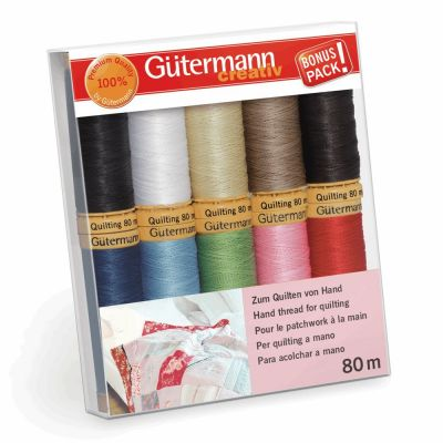 Gutermann 10 x 80m Assorted Quilting Thread Set