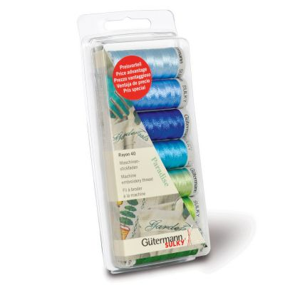 Gutermann 7 x 200m Paradise Shades Embroidery Thread Set