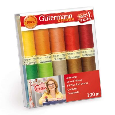 Gutermann 10 x 100m Brights Sew All Thread Set