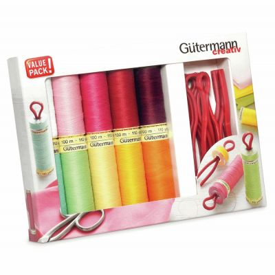 Gutermann 10 x 100m Rainbow Sew All Thread Set