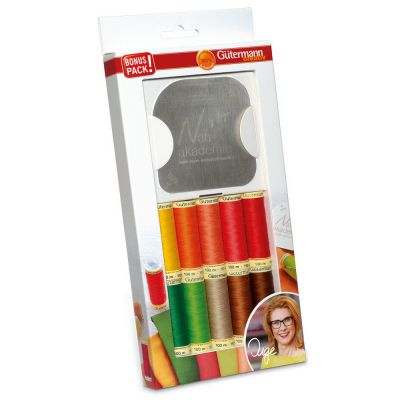 Gutermann 10 x 100m Bold Sew All Thread Set With Sewing Contour