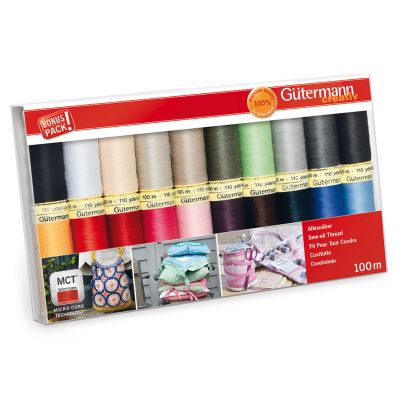 Gutermann 20 x 100m Basic Colours Sew All Thread Set