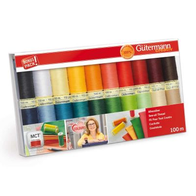 Gutermann 20 x 100m Bright Colours Sew All Thread Set