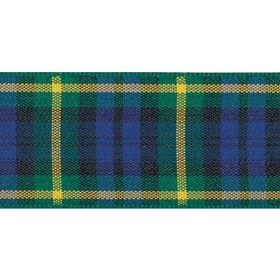 Berisfords Woven Edge Gordon Tartan Ribbon - 6 Widths