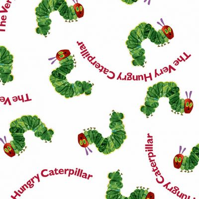 Remnant - Andover - The Very Hungry Caterpillar Bright - Red Text - 26 x 110cm