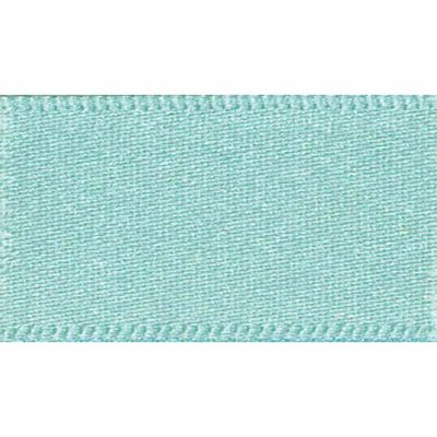 Berisfords 70mm Double Faced Satin Aqua Ribbon 20m Reel