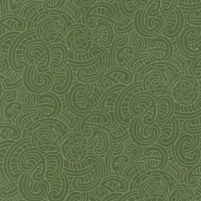 Nutex - Extra Wide Fabric - Ponga Koru - Green