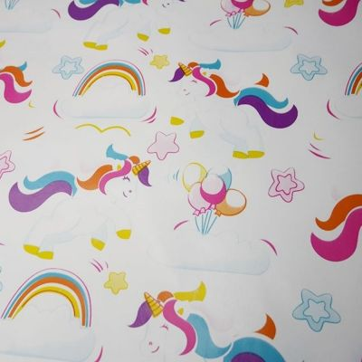 Table Protector - Unicorns On White