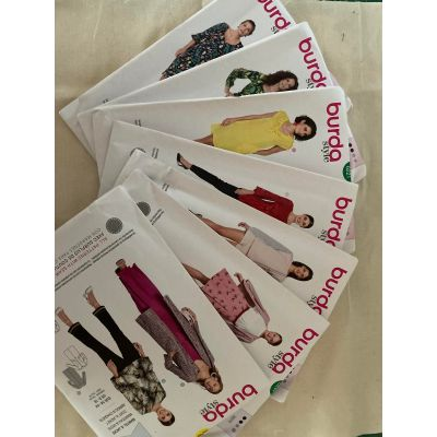 Remnant - 7 x Burda Sewing Patterns - size 34 - 44cm - End of Line