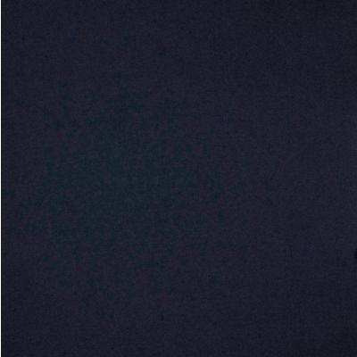 Remnant -Solid Colour Bamboo Jersey Fabric - Navy - 50 x 160cm - Creased