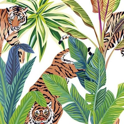 Digital Cotton Print  - Tigers