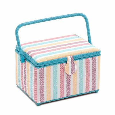 Large Deep Sketch Stripe Sewing Box