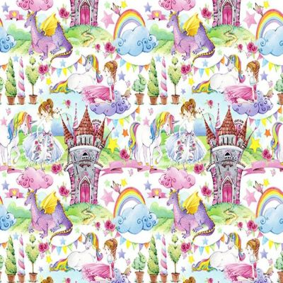 Digital Cotton Print  - Fairytale Kingdom