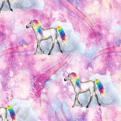 Digital Cotton Print  - Unicorn Clouds