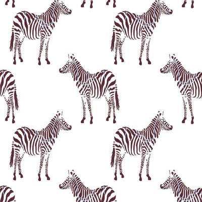 Digital Cotton Print  - Zebras
