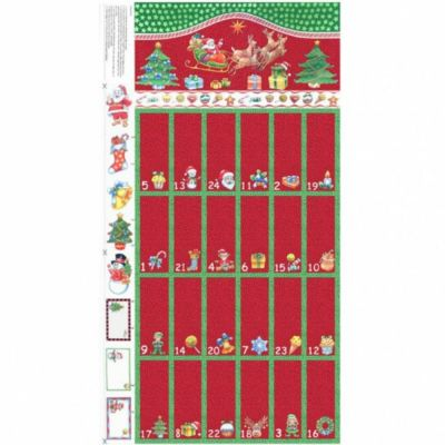 Remnant -Nutex - Advent Calendar Panel - Red - 45 x 110cm - Miscut